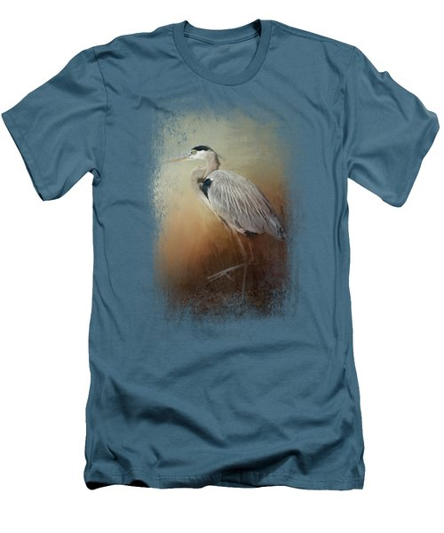 Heron At The Inlet Men's T-Shirt (Slim Fit) by Jai Johnson