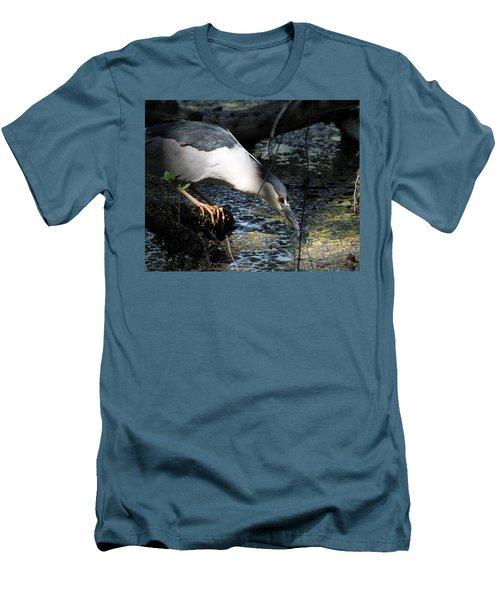 Heron In A Sun Beam Men's T-Shirt (Slim Fit) by Doris Potter