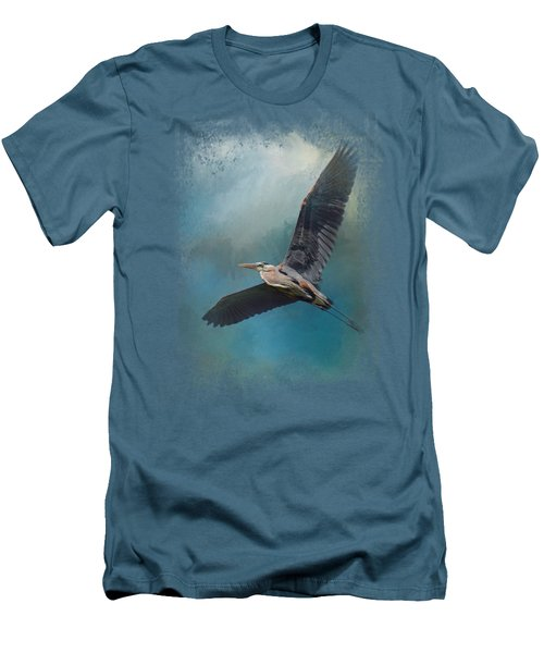 Heron In The Midst Men's T-Shirt (Slim Fit) by Jai Johnson