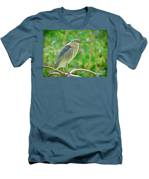 Heron On The Edge Men's T-Shirt (Athletic Fit)