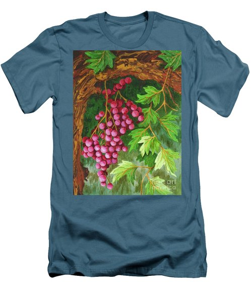 Men's T-Shirt (Slim Fit) featuring the painting Hidden Treasure by Katherine Young-Beck