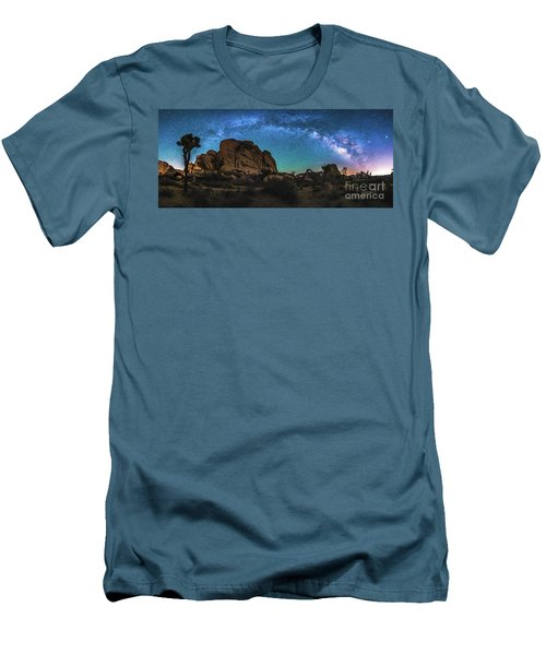 Hidden Valley Milky Way Panorama Men's T-Shirt (Athletic Fit)