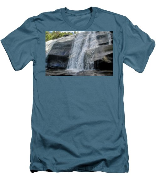 Men's T-Shirt (Slim Fit) featuring the photograph High Falls Two by Steven Richardson