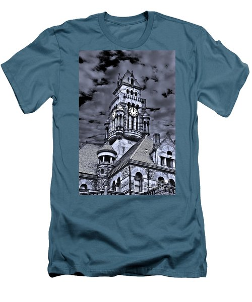 Men's T-Shirt (Slim Fit) featuring the photograph High Noon Black And White by Tamyra Ayles
