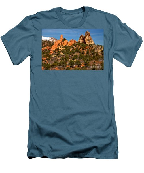 Men's T-Shirt (Slim Fit) featuring the photograph High Point Rock Towers by Adam Jewell