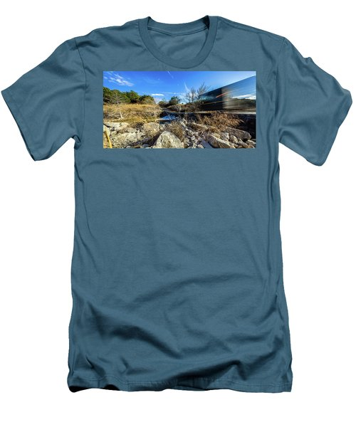 Hill Country Back Road Long Exposure #2 Men's T-Shirt (Slim Fit) by Micah Goff