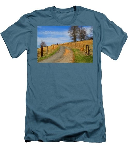 Hilltop Driveway Men's T-Shirt (Athletic Fit)