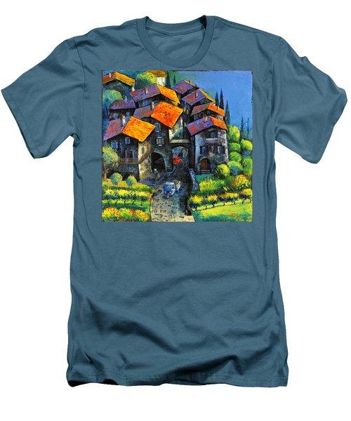 Hilltop Willage Men's T-Shirt (Athletic Fit)