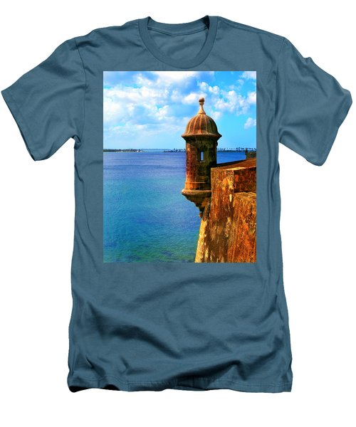 Historic San Juan Fort Men's T-Shirt (Athletic Fit)