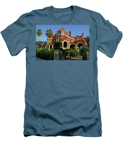 Men's T-Shirt (Athletic Fit) featuring the photograph Historical Galveston Mansion by Tikvah's Hope