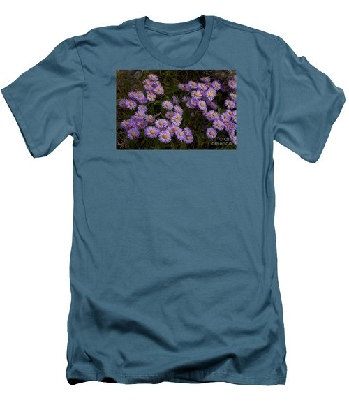 Men's T-Shirt (Slim Fit) featuring the photograph Hoary Tansyaster-signed-#9698 by J L Woody Wooden