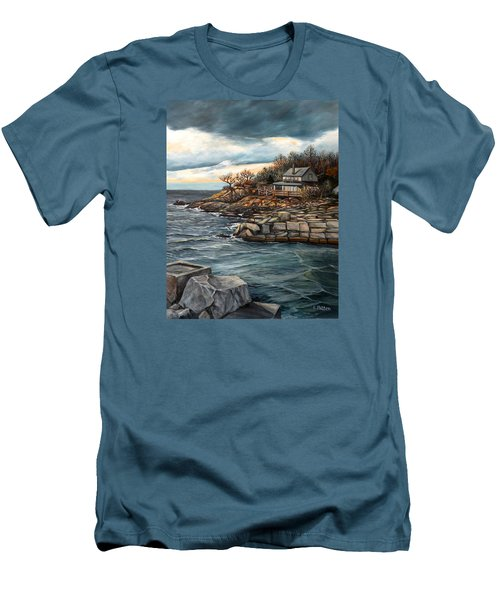 Hodgkins Cove Gloucester Ma Men's T-Shirt (Athletic Fit)