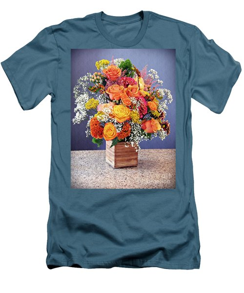 Men's T-Shirt (Slim Fit) featuring the photograph Holy Week Flowers 2017 by Sarah Loft