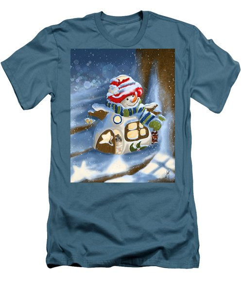 Men's T-Shirt (Slim Fit) featuring the painting Home Sweet Home by Veronica Minozzi