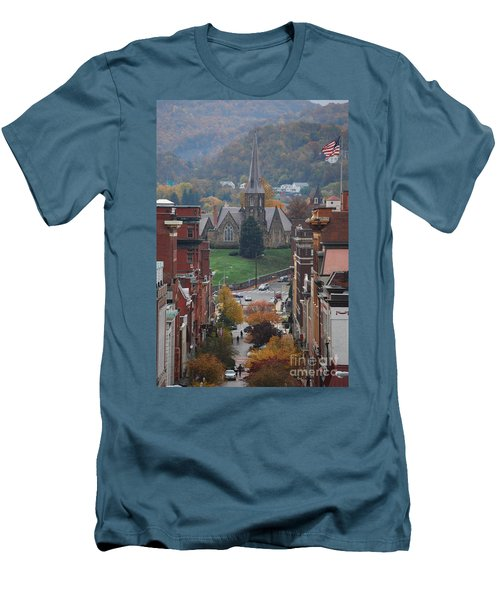 Men's T-Shirt (Slim Fit) featuring the photograph My Hometown Cumberland, Maryland by Eric Liller