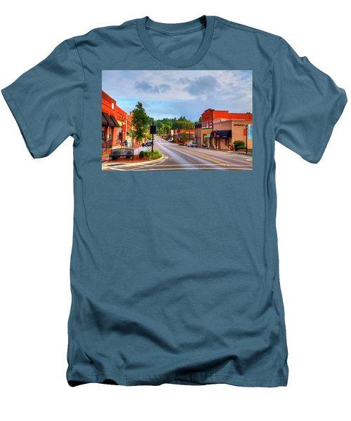 Hometown America Men's T-Shirt (Slim Fit) by Dale R Carlson