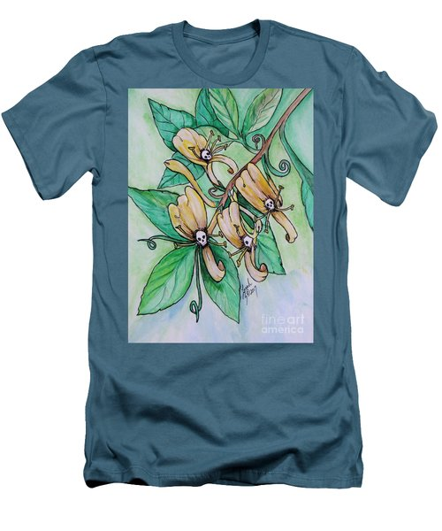Honeysuckle Skulls Men's T-Shirt (Athletic Fit)