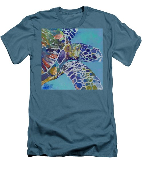 Honu Men's T-Shirt (Slim Fit) by Marionette Taboniar