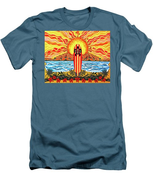 Honu Surf Men's T-Shirt (Slim Fit) by Debbie Chamberlin