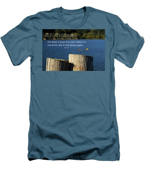 Hope For A Tree Men's T-Shirt (Slim Fit) by James Eddy