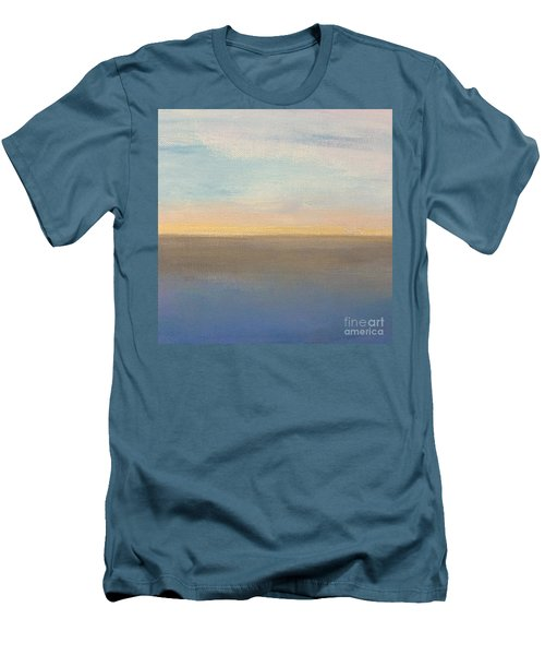 Men's T-Shirt (Slim Fit) featuring the painting Horizon Aglow by Kim Nelson