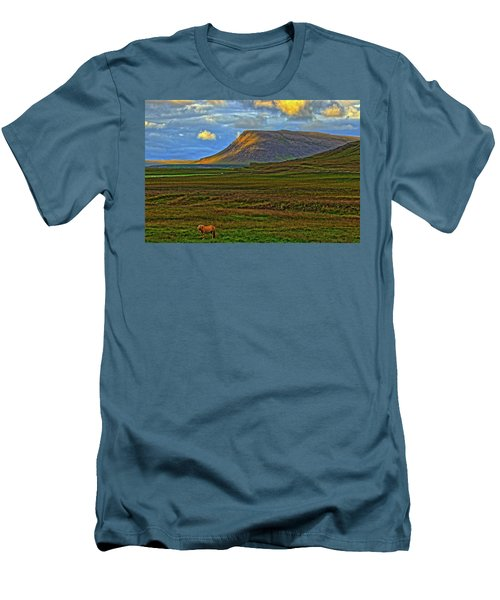 Men's T-Shirt (Slim Fit) featuring the photograph Horse And Sky by Scott Mahon