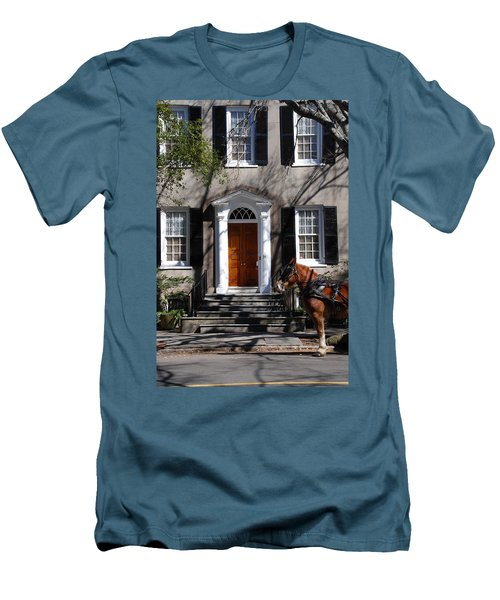 Horse Carriage In Charleston Men's T-Shirt (Athletic Fit)