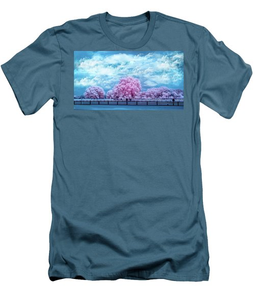 Men's T-Shirt (Slim Fit) featuring the photograph Horse Country In Pink by Louis Ferreira