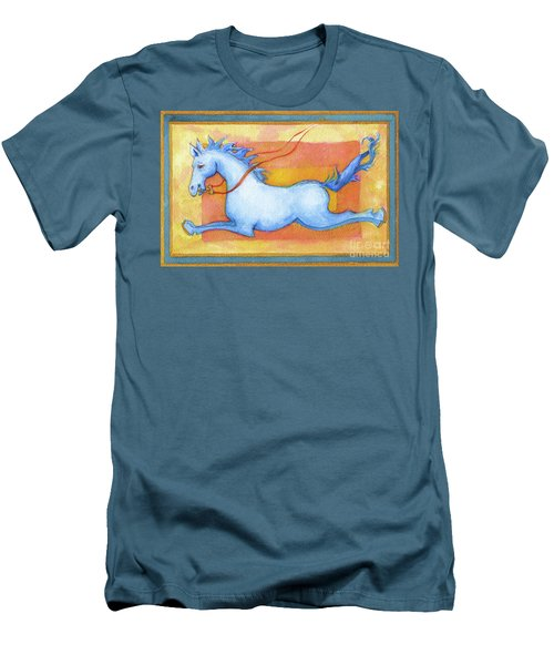 Horse Detail From H Medieval Alphabet Print Men's T-Shirt (Athletic Fit)