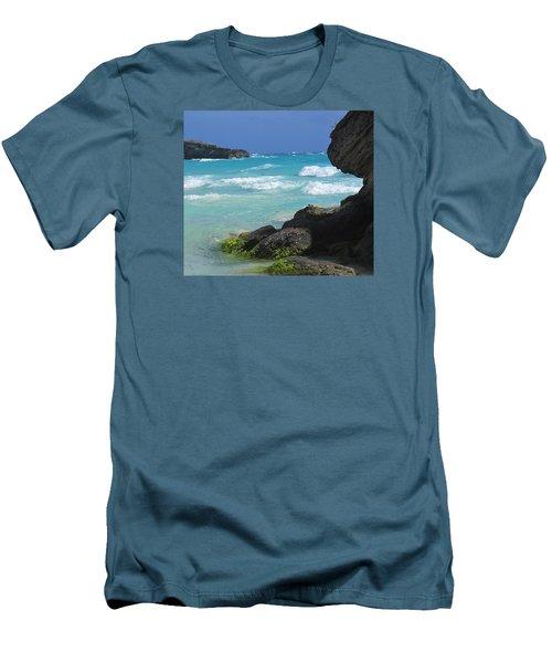 Horseshoe Bay Rocks Men's T-Shirt (Slim Fit) by Ian  MacDonald