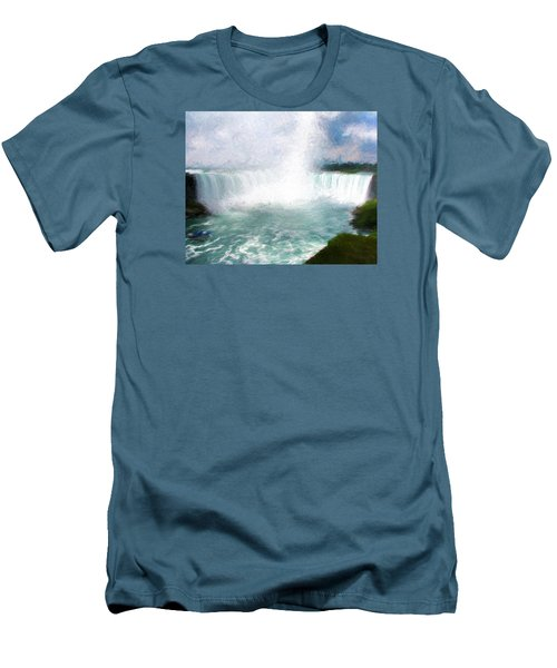 Horseshoe Falls - Niagara Falls Men's T-Shirt (Slim Fit) by John Freidenberg