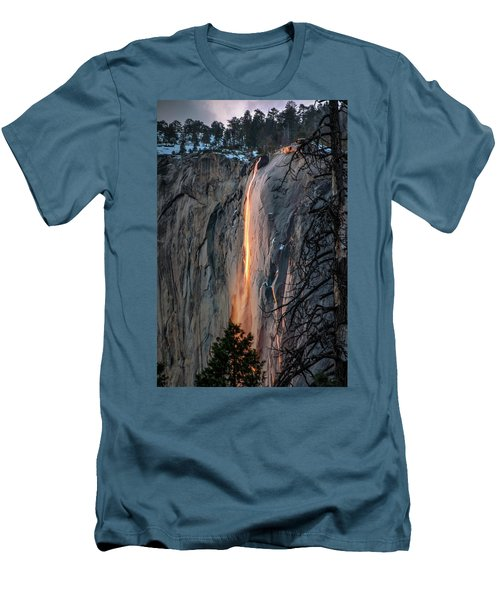 Horsetail Waterfall Glow 2017-2-24 Men's T-Shirt (Athletic Fit)