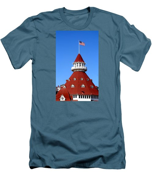 Hotel Del Coronado Men's T-Shirt (Slim Fit) by Christopher Woods
