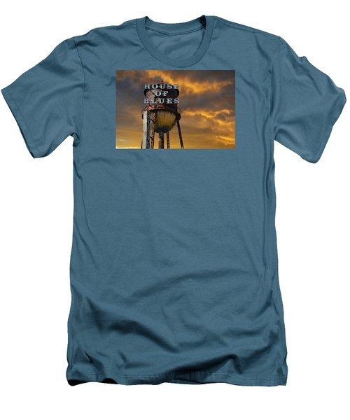 Men's T-Shirt (Slim Fit) featuring the photograph House Of Blues  by Laura Fasulo