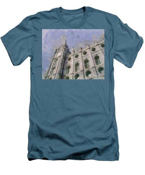 Men's T-Shirt (Slim Fit) featuring the painting House Of Faith by Greg Collins