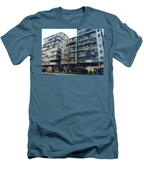 Houses Of Kowloon Men's T-Shirt (Slim Fit) by Florian Wentsch