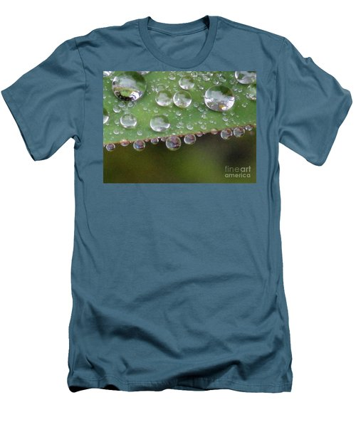 How Many Raindrops Can A Leaf Holds. Men's T-Shirt (Slim Fit) by Kim Tran