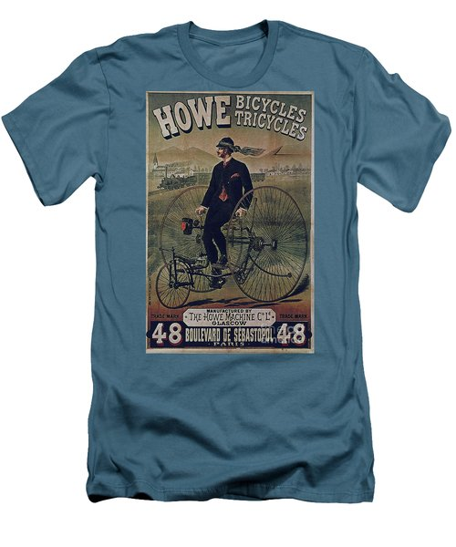 Howe Bicycles Tricycles Vintage Cycle Poster Men's T-Shirt (Athletic Fit)