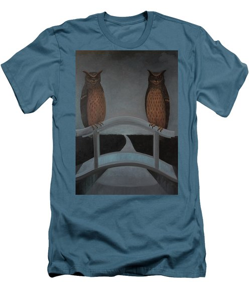 Men's T-Shirt (Slim Fit) featuring the painting Hu-hu-bro by Tone Aanderaa