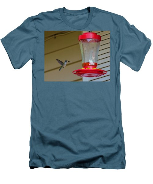 Hummingbird In Flight Men's T-Shirt (Athletic Fit)