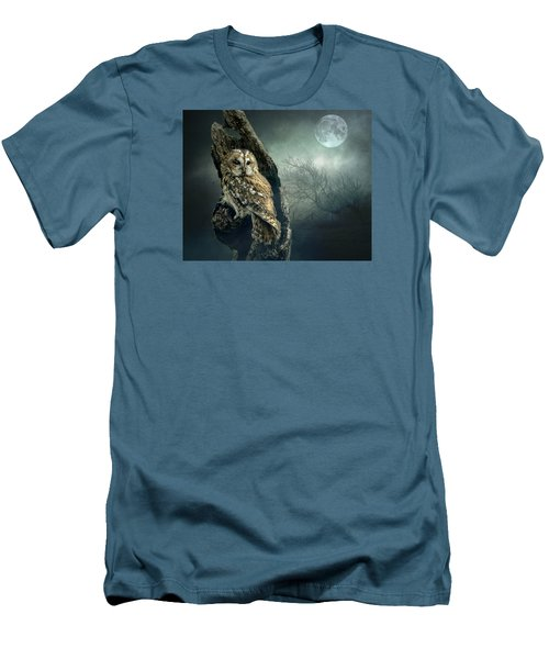 Hunter's Moon Men's T-Shirt (Slim Fit) by Brian Tarr