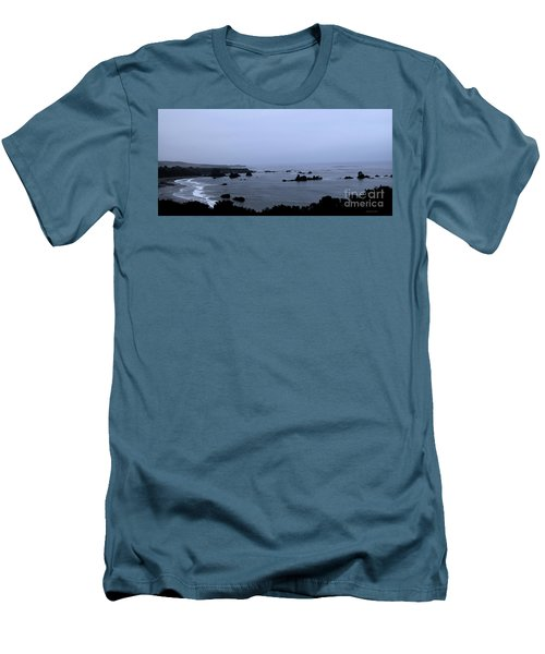 Hwy 1 San Simeon Men's T-Shirt (Athletic Fit)