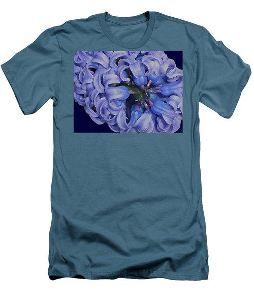 Hyacinth Curls Men's T-Shirt (Slim Fit) by Lynda Lehmann