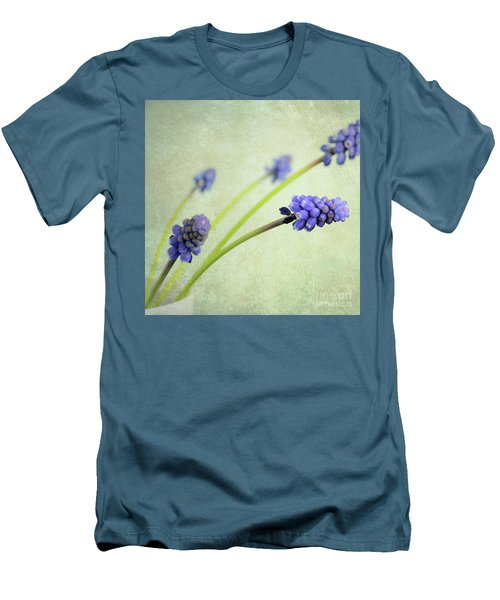 Men's T-Shirt (Slim Fit) featuring the photograph Hyacinth Grape by Lyn Randle