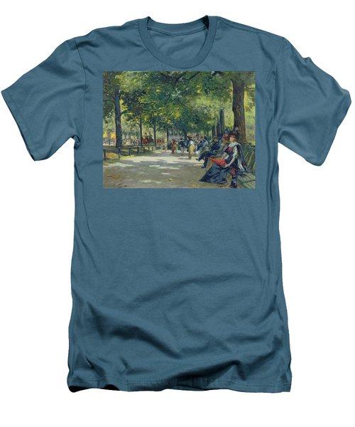 Hyde Park - London  Men's T-Shirt (Slim Fit) by Count Girolamo Pieri Nerli
