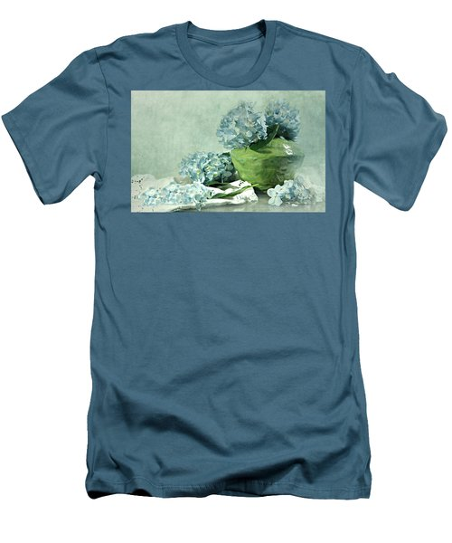 Hydra Blues Men's T-Shirt (Slim Fit) by Diana Angstadt