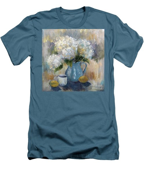 Hydrangea Morning Men's T-Shirt (Slim Fit) by Jennifer Beaudet