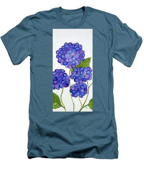 Hydrangea Men's T-Shirt (Slim Fit) by Reina Resto