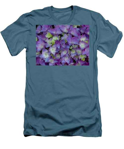 Hydrangia Blossom Men's T-Shirt (Athletic Fit)