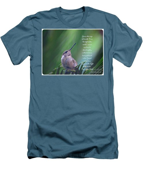 Men's T-Shirt (Slim Fit) featuring the photograph I Am The Light Of The World by Debby Pueschel